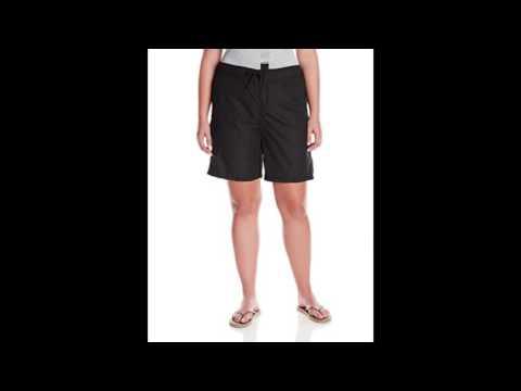Kanu Surf Womens Plus Size Marina Board Shorts Black 3x