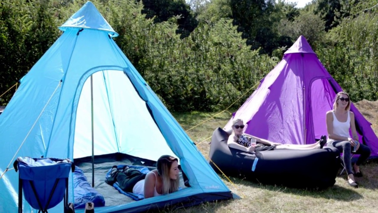 Festivals Tipi Tents | Easy C&ing / Pitching & Festivals Tipi Tents | Easy Camping / Pitching - YouTube