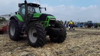Трактор Deutz Agrotron X 720 и лущильник ЛДП-6