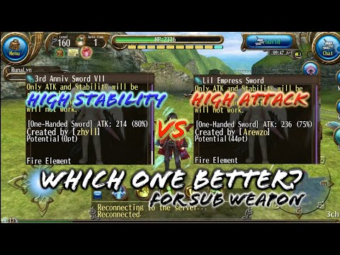 For Dual Sword sub Weapon: Which one better!? 3rd Anniversary vs Lil Empress! - Toram Online