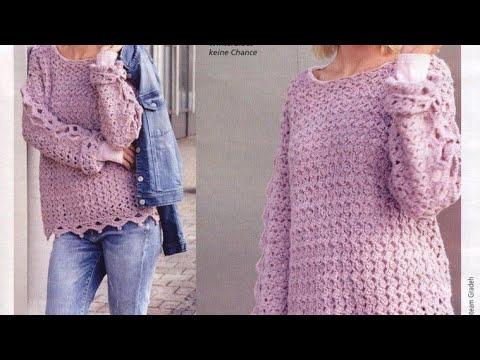 Pullover Crochet Pattern - Узор крючком для пуловера
