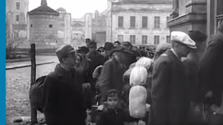 German Jewish deportees arriving at the Warsaw Ghetto