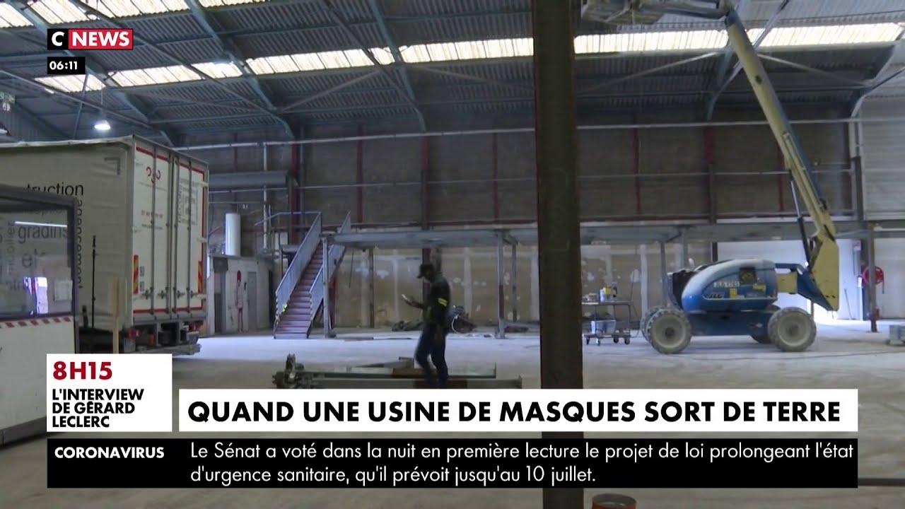 Construite en un temps record, la première usine de masques d'Ile-de-France ouvrira début mai