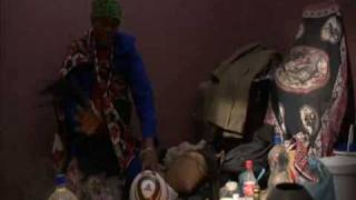 Witchdoctor blessing of the ball ahead of Bafana vs Uraguay 2010 World Cup clash
