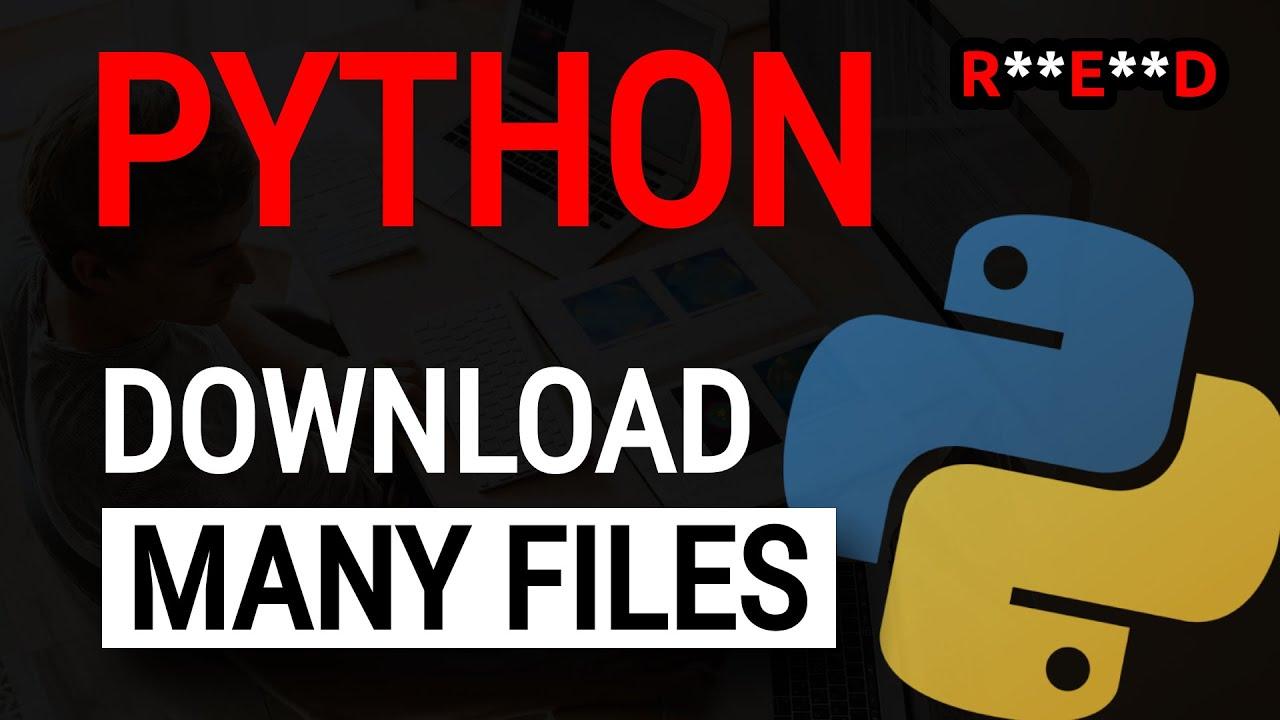 python3 html download file
