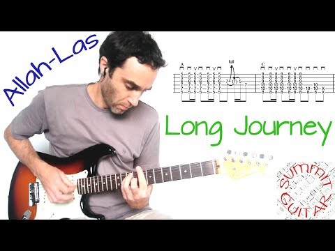 Allah-Las - Long Journey - Guitar lesson / tutorial / cover with tablature