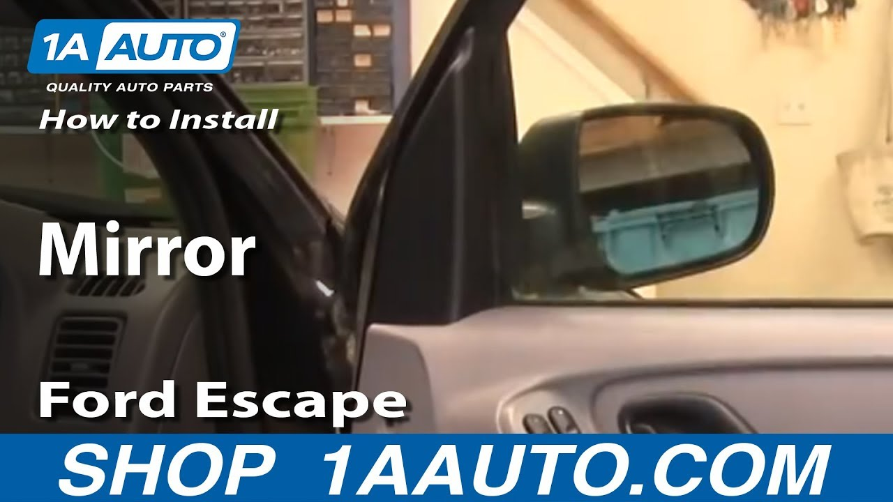 How To Install Replace Side Rear View Mirror Ford Escape