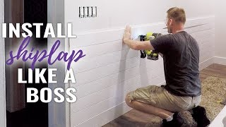 🔨 How to Install Shiplap on a Wall - DIY