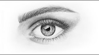 How to Draw a Eye | Pencil drawing | Easy For Beginners step by step | Drawing Tutorial