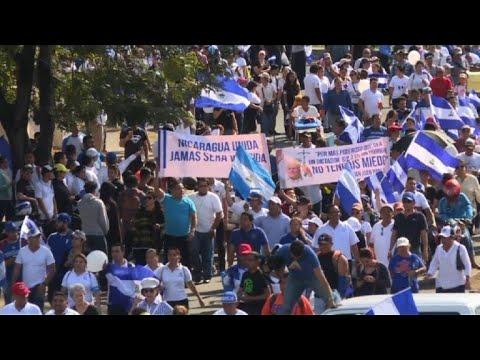 Hundreds protest in Nicaragua against Ortega