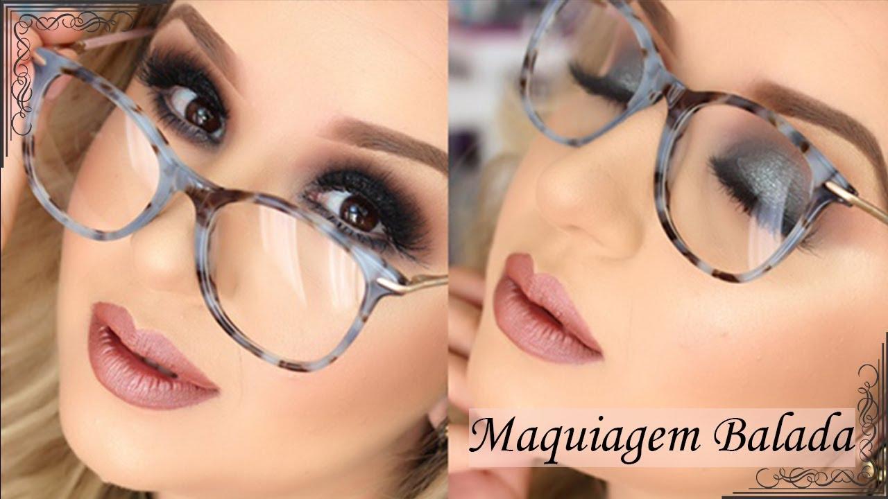 Maquiagem Balada para quem usa óculos por Priscila Barbosa - YouTube b052985e59