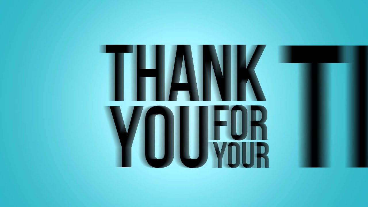 Saying Thank You in After Effects! - YouTube