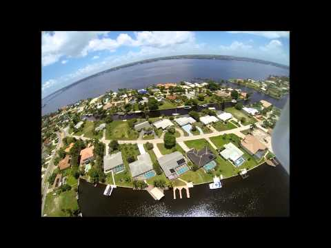 Aerial video Malibu Basin Cape Coral