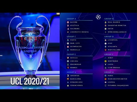 UEFA CHAMPIONS LEAGUE 2020/21 DRAW RESULT: GROUP STAGE