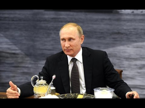 Vladimir Putin. Meeting with heads of international news agencies