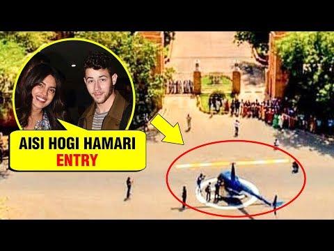 Priyanka Chopra And Nick Jonas Grandest Entry At Their Wedding Venue Umaid Bhawan Palace