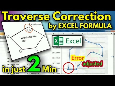 Traverse Calculation excel sheet download/Traversing/Closed