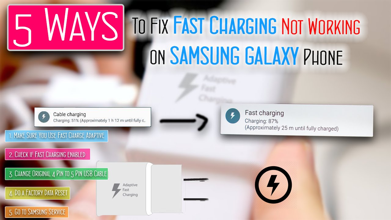 5 Ways To Fix Solved Fast Charging Not Working On Samsung Galaxy Phone