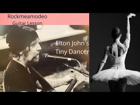 Elton John Tiny Dancer Guitar Lesson (short) by Chris Amodeo