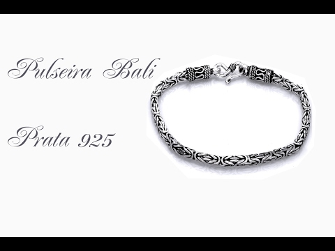 ca527c1d08c Pulseira De Prata bali masculino - YouTube