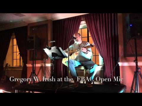 2015-01-13 Gregory W Irish at Freehold Borough Arts Council (FBAC) Open Mic