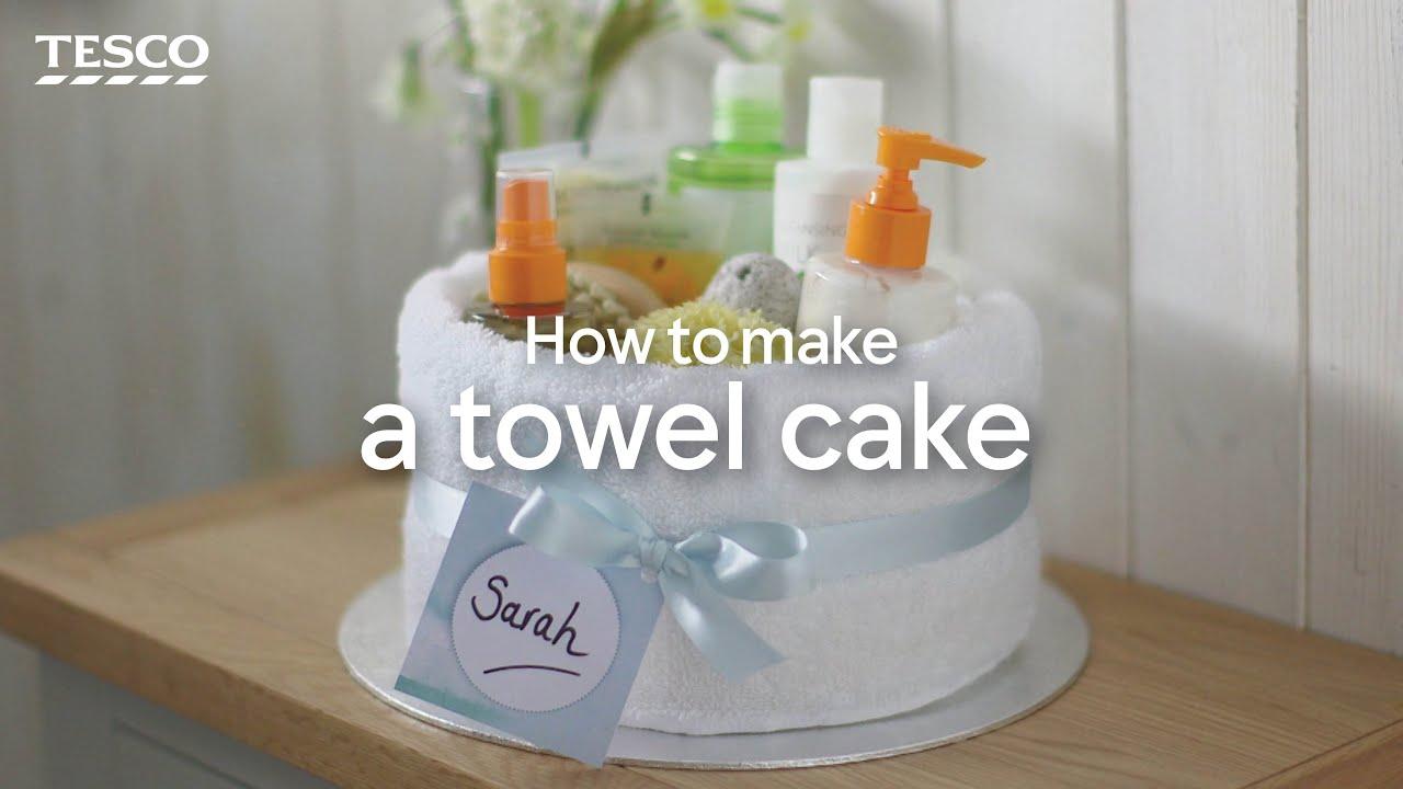 How To Make A Towel Cake Tesco Living Youtube