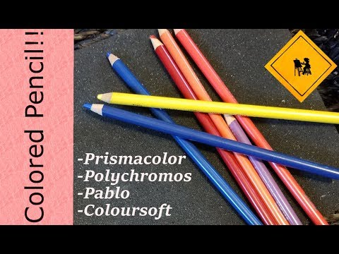 LIGHTFAST- 4 Colored Pencil Lines Compared