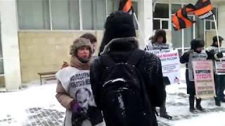 Сумасшедшие на выдвижение Навального. Воронеж 24.12.2017