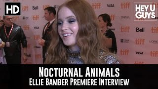 Ellie Bamber Premiere Interview - Nocturnal Animals (TIFF 2016)