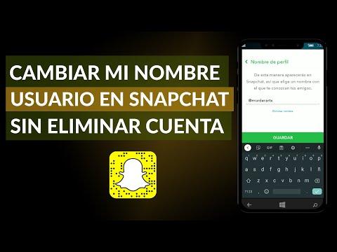 Cómo Cambiar mi Nombre de Usuario en Snapchat sin Eliminar la Cuenta
