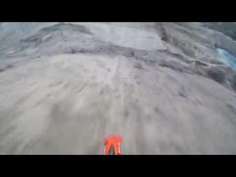 Lot przez kierownice i Vmax ktm excf 250