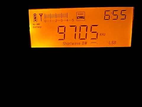 9705kHz ORTN Voix du Sahel, Niamey, Niger : Tecsun PL-660