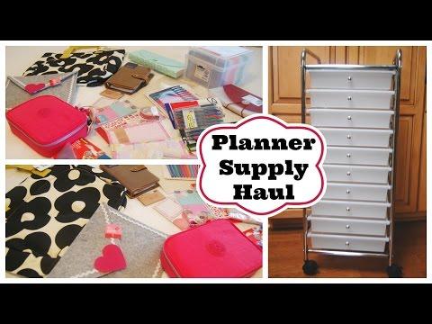 Planner Supply Haul/What I Got For Christmas!
