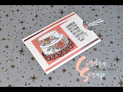 """Tutoriel Carte à panneau glissant """"Gâteau Élégant"""" by CindraScrap"""