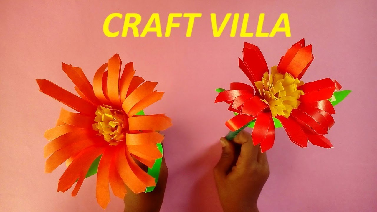 how to make paper flowers step by step video