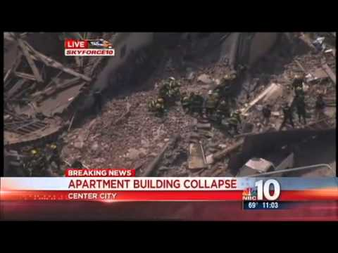 Philadelphia. Building Collapses, People Trapped Breaking News. (Video)