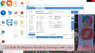 How to rotate LED screen 90 degrees with Linsn controller