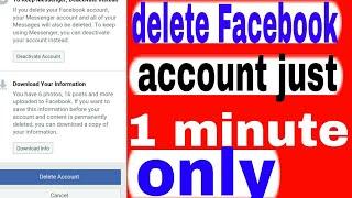 #deletefacebookaccountinhindi || how to delete a facebook account||