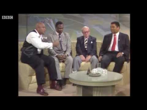 Frazier, Ali and Foreman On British TV  Very Funny