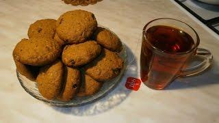 Постное овсяное печенье / Lean oatmeal cookies