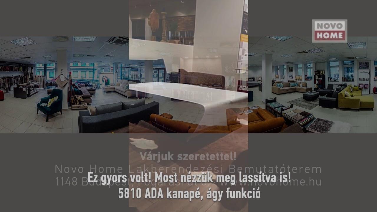 5810 ADA Toledo kanapé ágy funkció - YouTube
