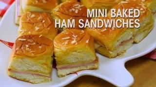 Mini Baked Ham Sandwiches