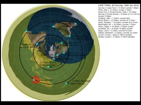 Great Flat Earth Map   Most Complete Test On Youtube   YouTube