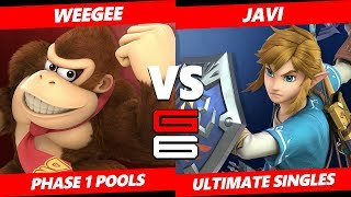 Genesis 6 SSBU -  Weegee (Donkey Kong) VS  Anahuac | Javi (Link) Smash Ultimate Pools