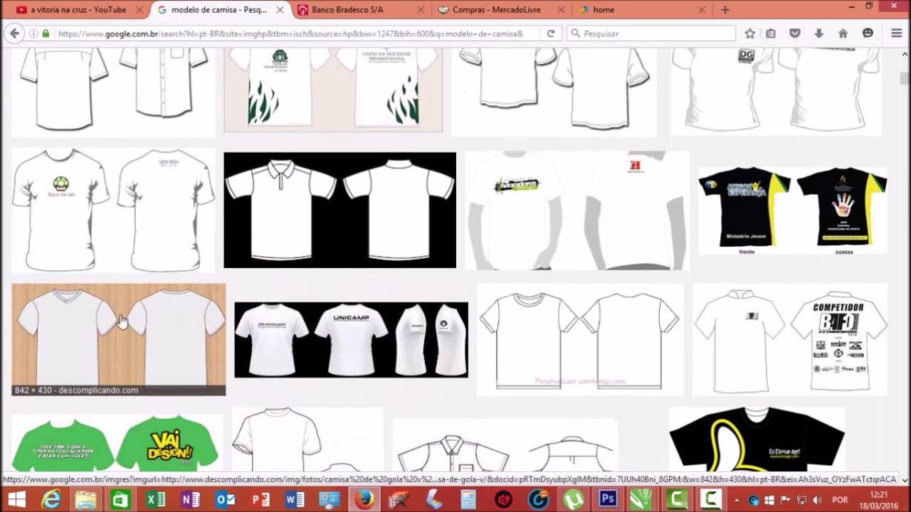 Criando Modelo De Camisas No Corel Draw X7 Photoshop Cs6