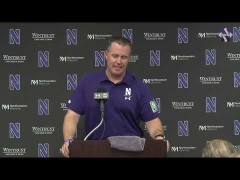 Football - Pat Fitzgerald Michigan Postgame Press Conference (9/29/18)