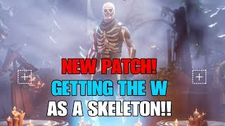 Fortnite Battle Royale - GETTING THE W AS A SKELETON! - NEW SKINS - ROCKET LAUNCHER - STORM EFFECTS