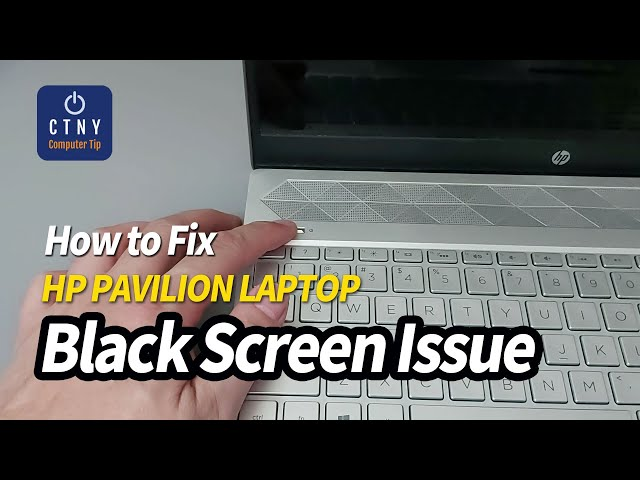 How to fix HP Laptop Black Screen - Power on but No Display LED Blinking issue