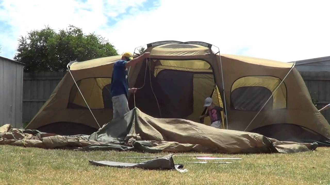 Put up a coleman tent - FAST - YouTube