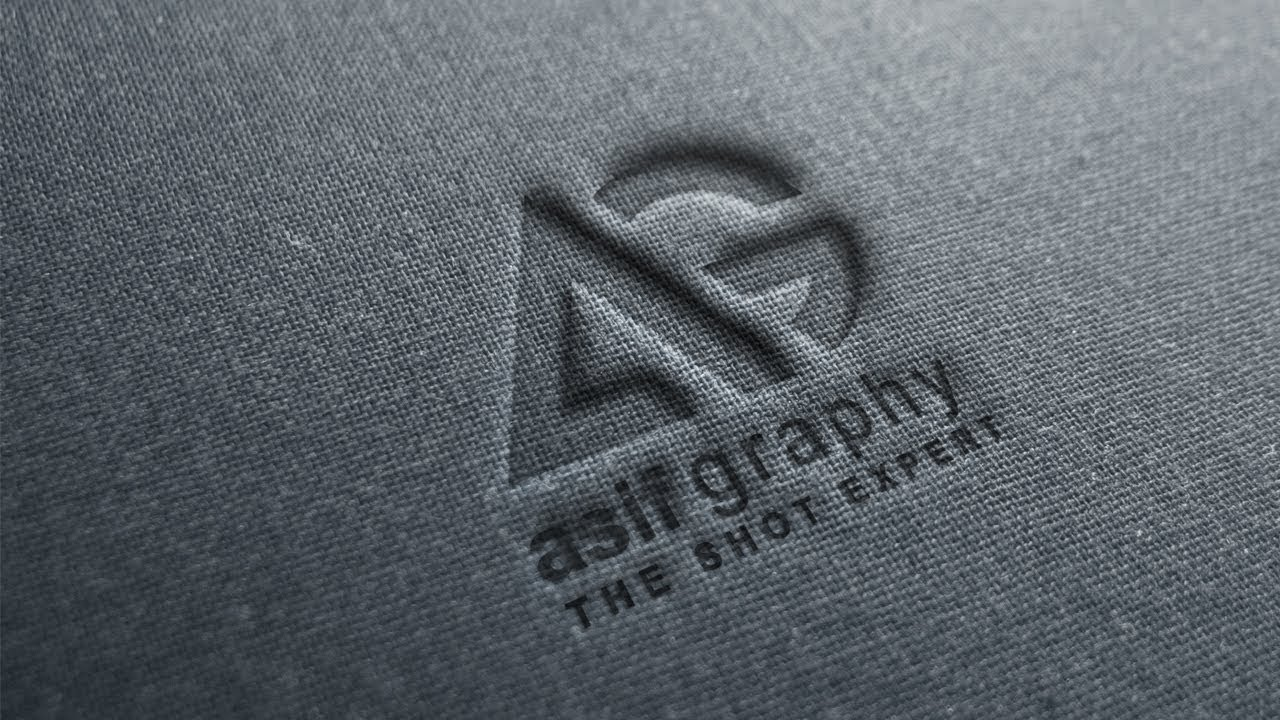 free embossed logo mockup mockup photoshop tutorial youtube